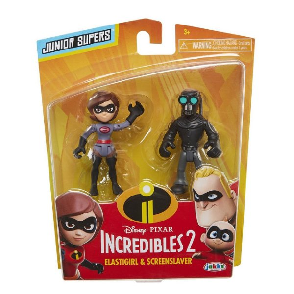 "Os Incríveis 2 - Minifiguras de 3"" Sra Incrivel e Screeslaver"