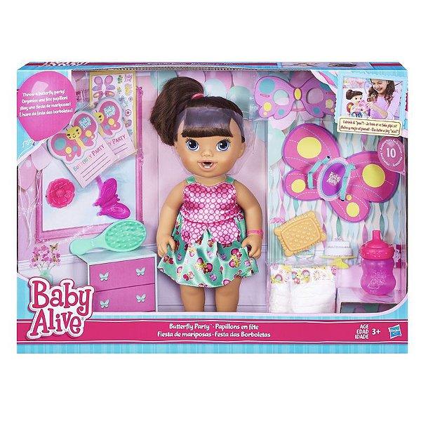 Boneca Baby Alive Borboletinha Morena - Hasbro