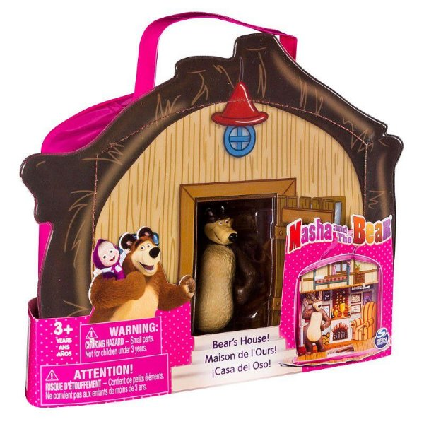 Masha e o Urso - Playset e Mini Figura Casa Do Urso