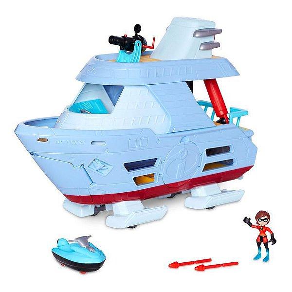 Os Incríveis 2 - Barco Hydroliner com Mini Figura Mulher Elástico