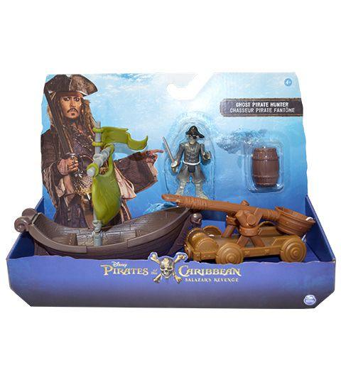 Piratas do Caribe Figuras Deluxe com Acessórios - Pirata Fantasma Caçador