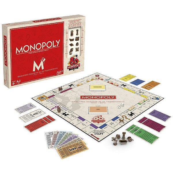Jogo Monopoly Edição Especial 80 Anos Mr. Monopoly