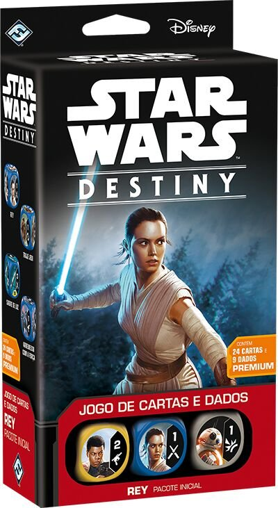 Jogo Star Wars Destiny Pacote Inicial -  Rey