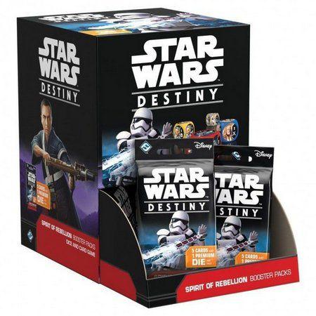 Jogo Star Wars Destiny Pacotes de Expansão - Box Espirito da Rebelião c/36