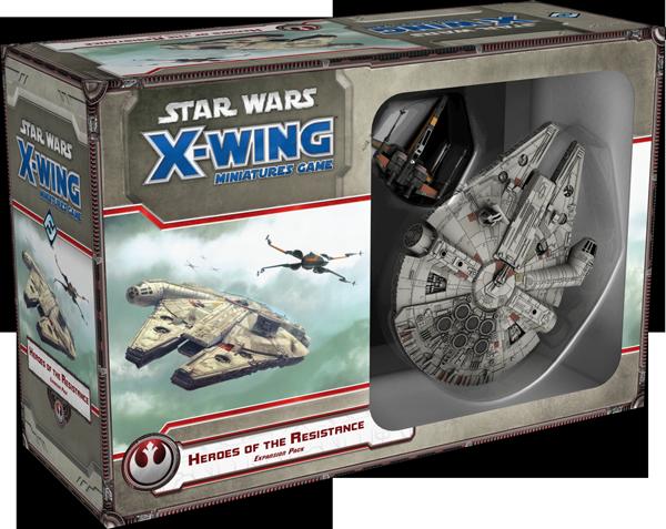 Jogo Star Wars X-Wing Expansão Heróis da Resistência