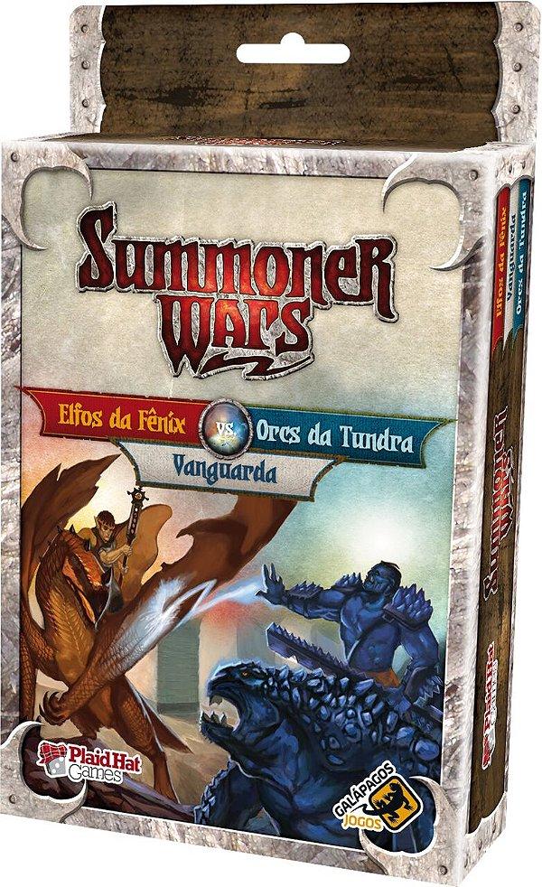 Jogo Summoner Wars Expansão Elfos da Fênix Vs Orcs da Tundra Vs Vanguarda