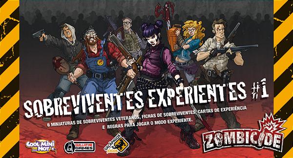 Jogo Zombicide - Expansão Sobreviventes Experientes