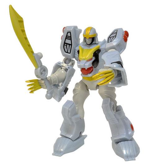 Power Rangers Dino Charge - Mixx'n Morph de Luxo Ranger Branco e Tigerzord