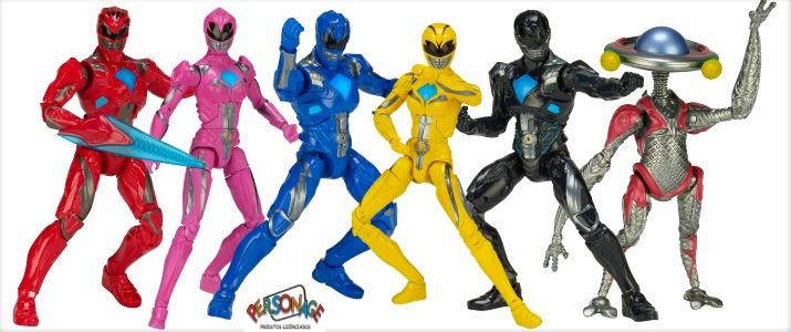 Power Rangers O Filme - (Pack Completo) 6 Bonecos