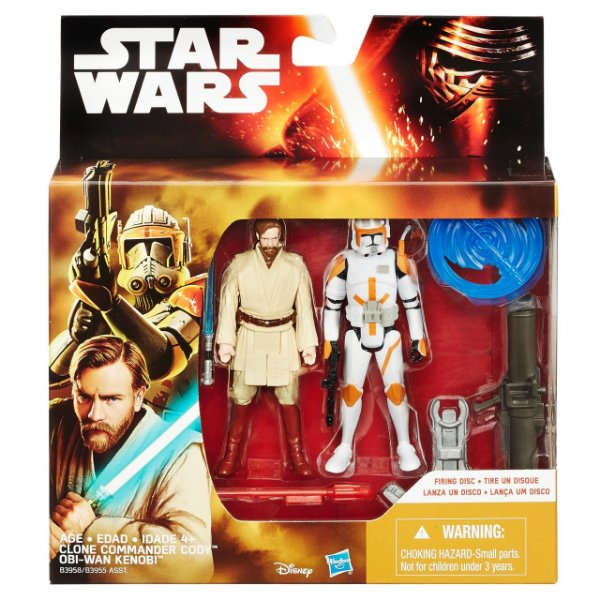 Boneco Star Wars The Force Awakens - Obi-Wan e Commander Cody