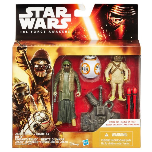 Boneco Star Wars The Force Awakens - BB8, Unkars Thug e Jakku Scavenger