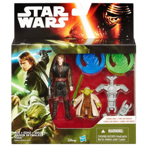 Boneco Star Wars The Force Awakens - Anakin Skywalker e Yoda