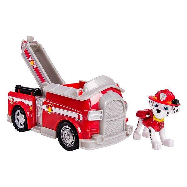 Patrulha Canina - Boneco com Veículo Fire Fightin Truck Marshall