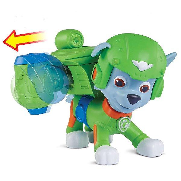 Patrulha Canina Resgate Aéreo - Boneco com Distintivo Rocky