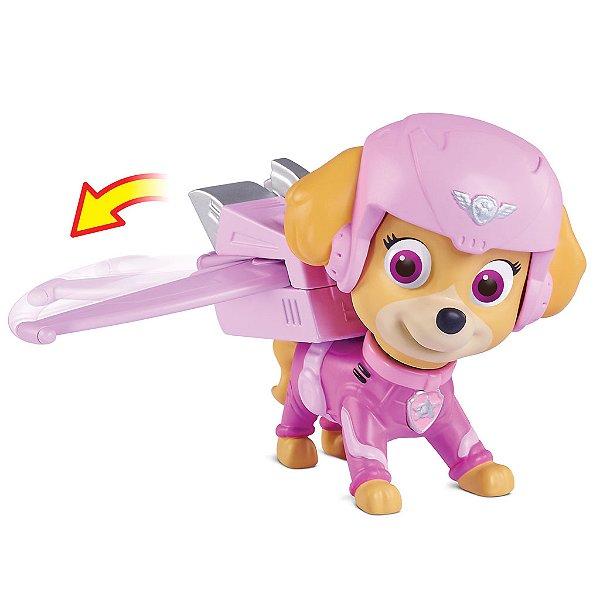 Patrulha Canina Resgate Aéreo - Boneco com Distintivo Skye