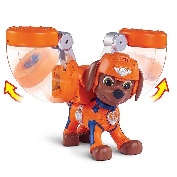 Patrulha Canina Resgate Aéreo - Boneco com Distintivo Zuma