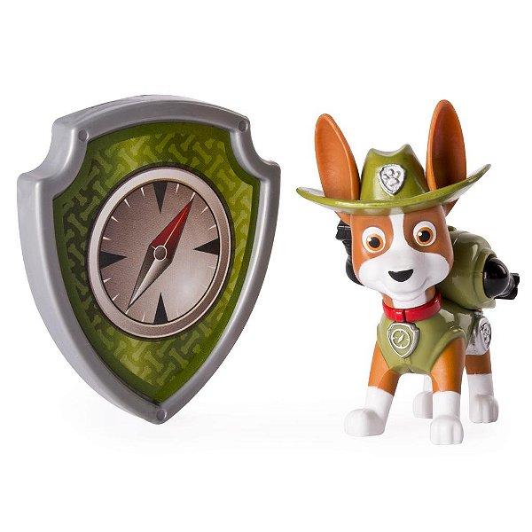 Patrulha Canina - Boneco com Distintivo Tracker