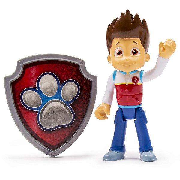 Patrulha Canina - Boneco com Distintivo Ryder