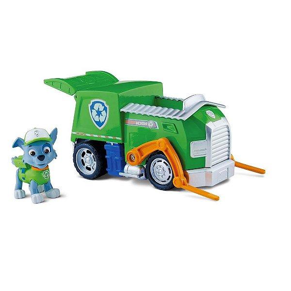 Patrulha Canina - Boneco com Veículo Rocky's Recycling Truck
