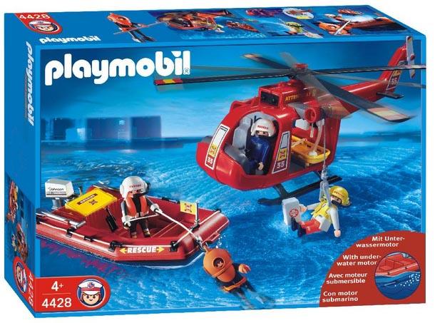 Playmobil 4428 - Bote e Helicóptero de Resgate