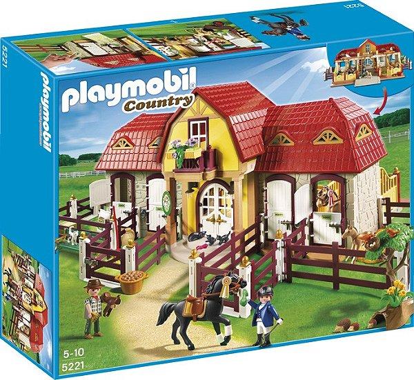 Playmobil 5221 - Grande Fazenda De Cavalos Com Padoque