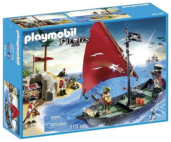 Playmobil 5646 - Navio pirata com soldados