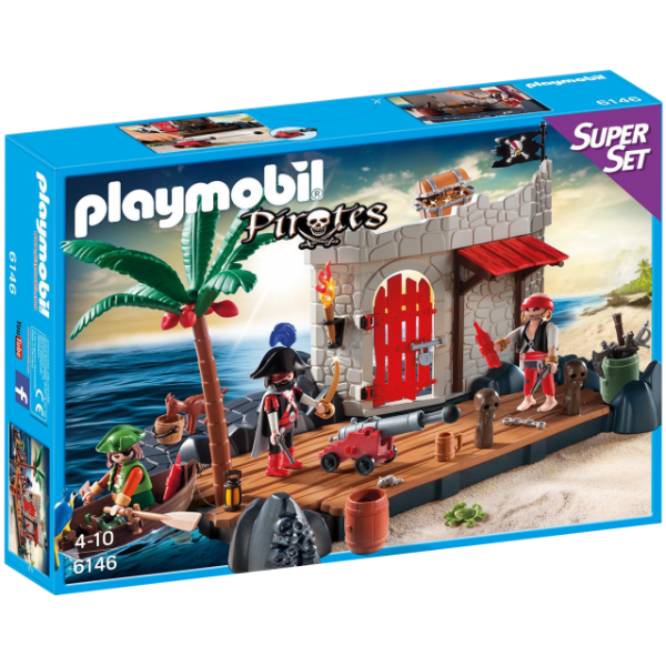 Playmobil 6146 - Super Set Forte Dos Piratas
