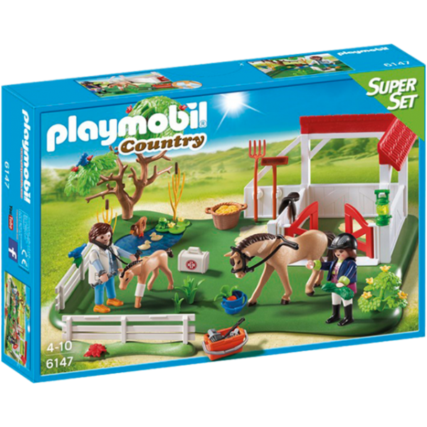 Playmobil 6147 - Super Set Padoque Dos Cavalos