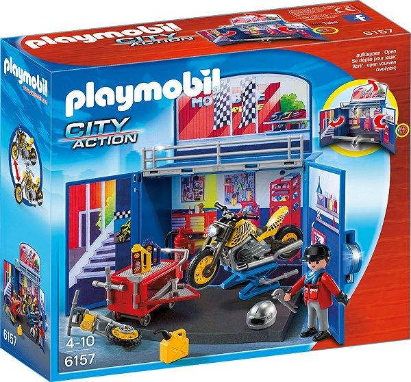 Playmobil 6157 - Playbox Minha Oficina De Motocicleta Secreta