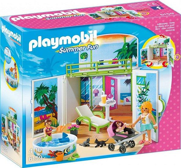 Playmobil 6159 - Playbox Meu Bangalo Secreto De Praia