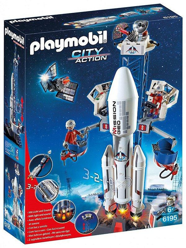 Playmobil 6195 - Base Espacial com Foguete