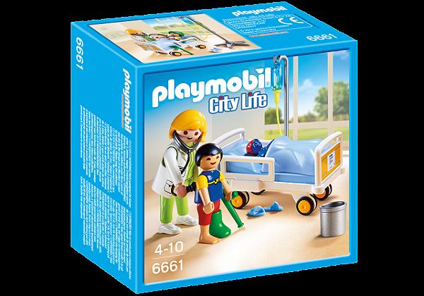 Playmobil 6661 - Pediatra com Criança e Leito