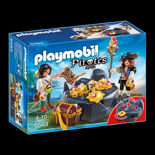 Playmobil 6683 - Esconderijo Do Tesouro Dos Piratas