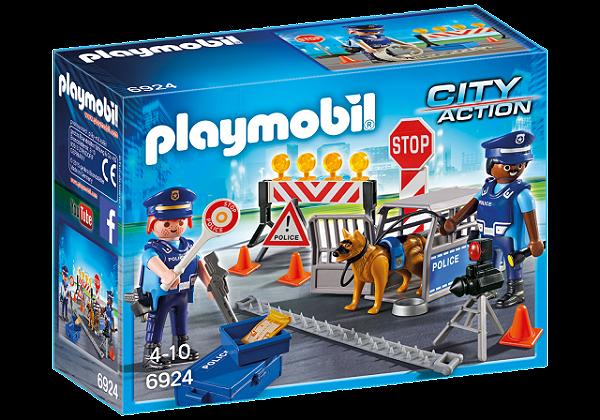 Playmobil 6878 - Unidade Policial de Bloqueio com Cães