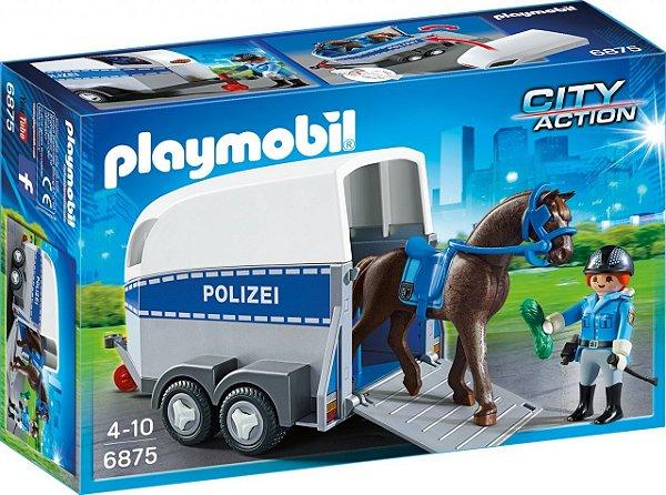 Playmobil 6922 - Polícia Montada com Trailer