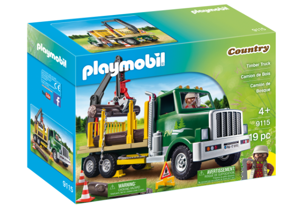 Playmobil 9115 - Caminhão Porta Madeira