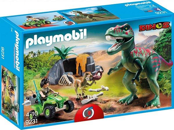 Playmobil 9231 - T-Rex com Explorador e Quadriciclo