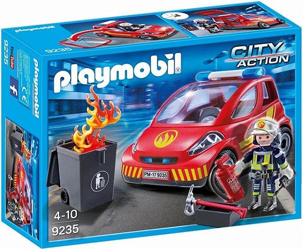 Playmobil 9235 - Bombeiro com carro