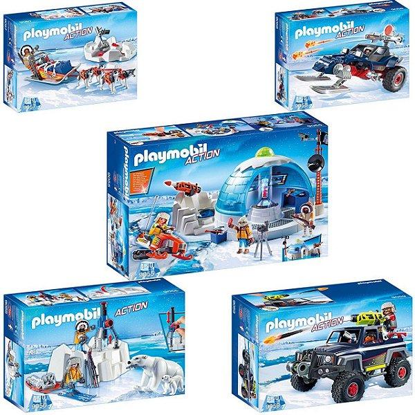 Playmobil Expedição Artica (pack completo) 5 caixas