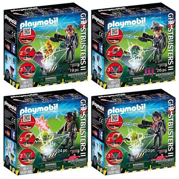 Playmobil Ghostbusters 2 pack com todos 9346 9347 9348 9349