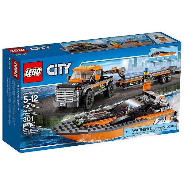 LEGO City - 4x4 com Barco a Motor 60085