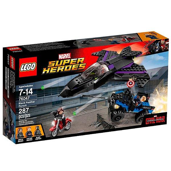 LEGO Super Heroes - Capitão América Guerra Civil Perseguição do Pantera Negra 76047
