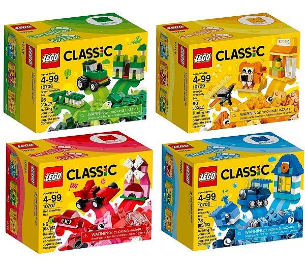 LEGO Classic - Caixas De Criatividade 10706 10707 10708 10709