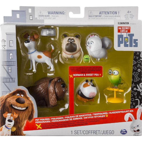 Vida Secreta Dos Pets - Pack Com 6 Figuras