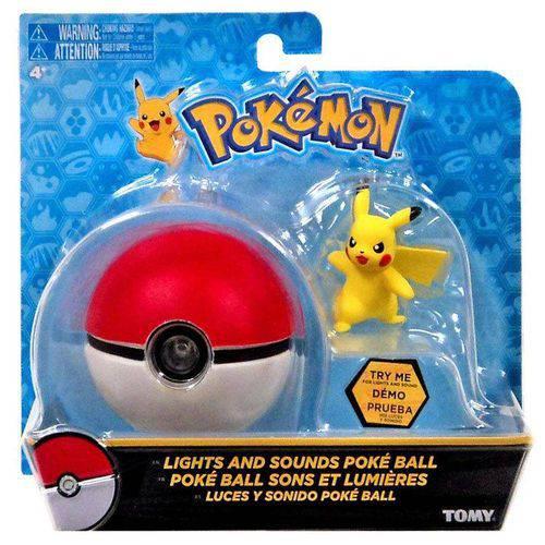 Pokémon Pikachu e Pokebola Pokéball com Luz e Som