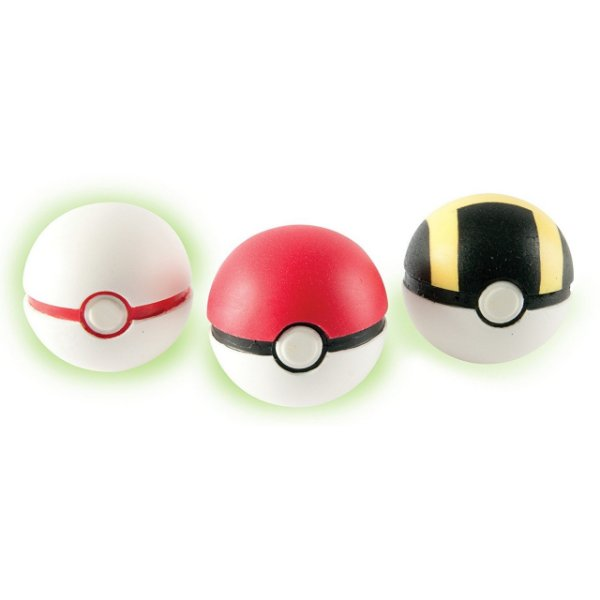 Pokémon Pokebola - Poke Ball, Premier Ball & Ultra Ball Pack com 3