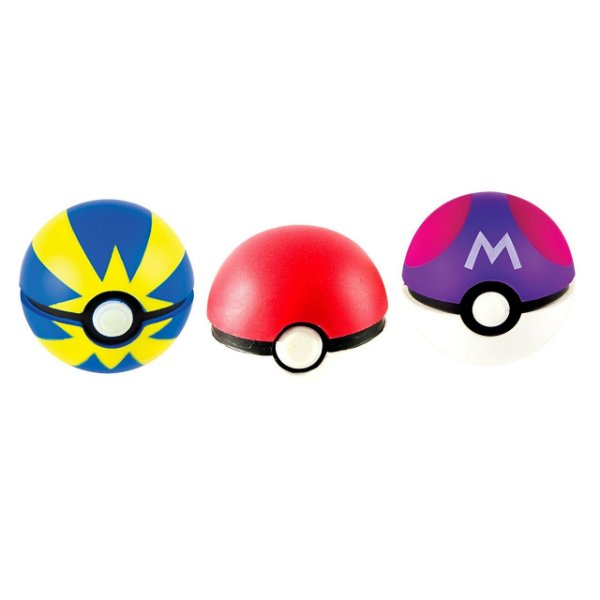 Pokémon Pokebola - Poke Ball, Master Ball & Quick Pack com 3