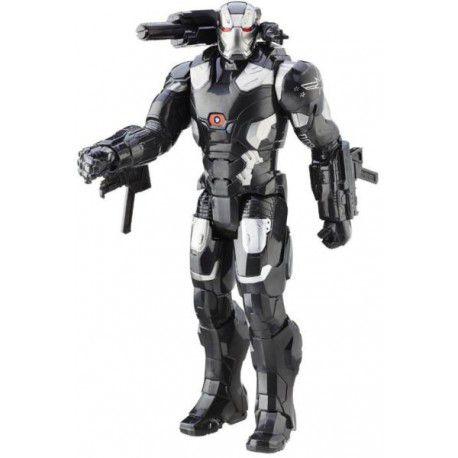 Boneco Titan Hero Tech Civil War War Machine Eletrônico 30 cm