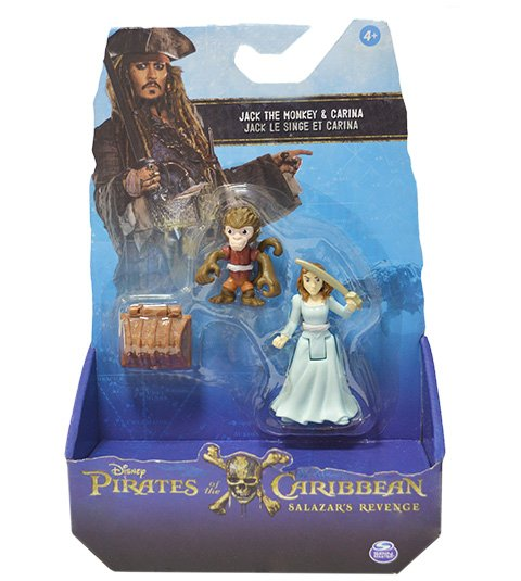 Piratas do Caribe Blister com 2 figuras sortidas - Jack The Monkey