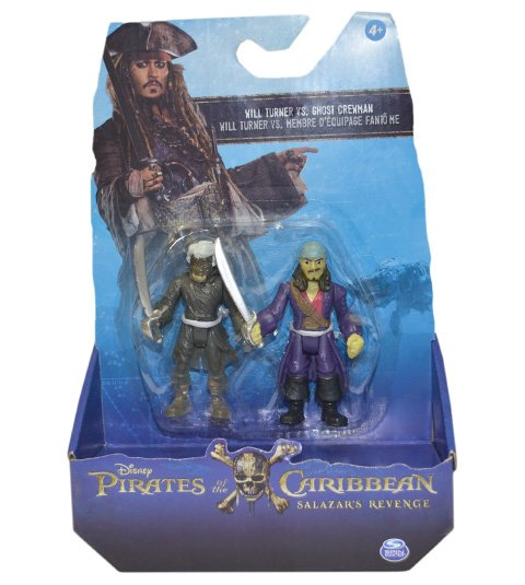 Piratas do Caribe Blister com 2 figuras sortidas - Will Turner
